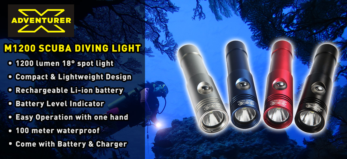 M1200 LED SCUBA DIVING LIGHT