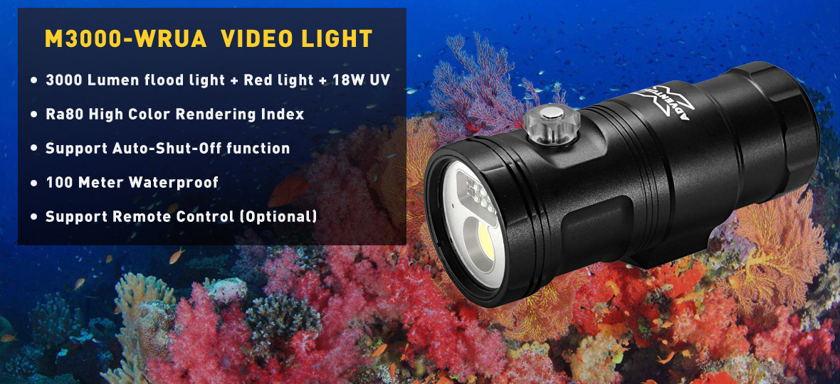 M3000-WRUA II Smart Focus Video Light