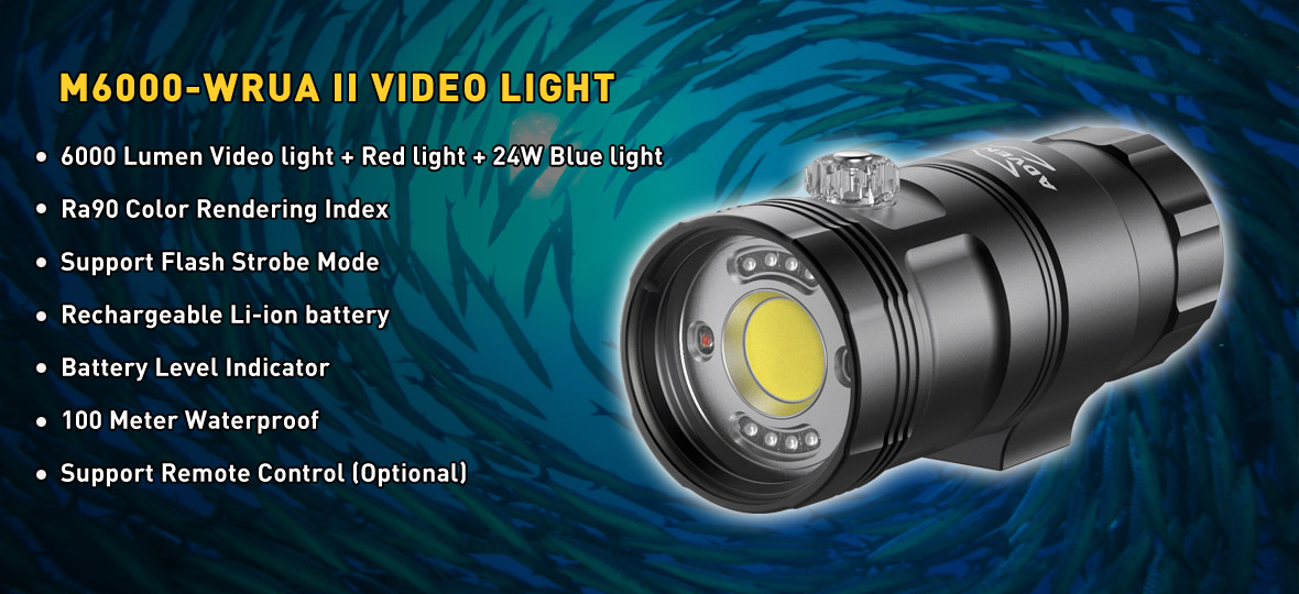 M6000-WRUA II Smart Focus Video Light