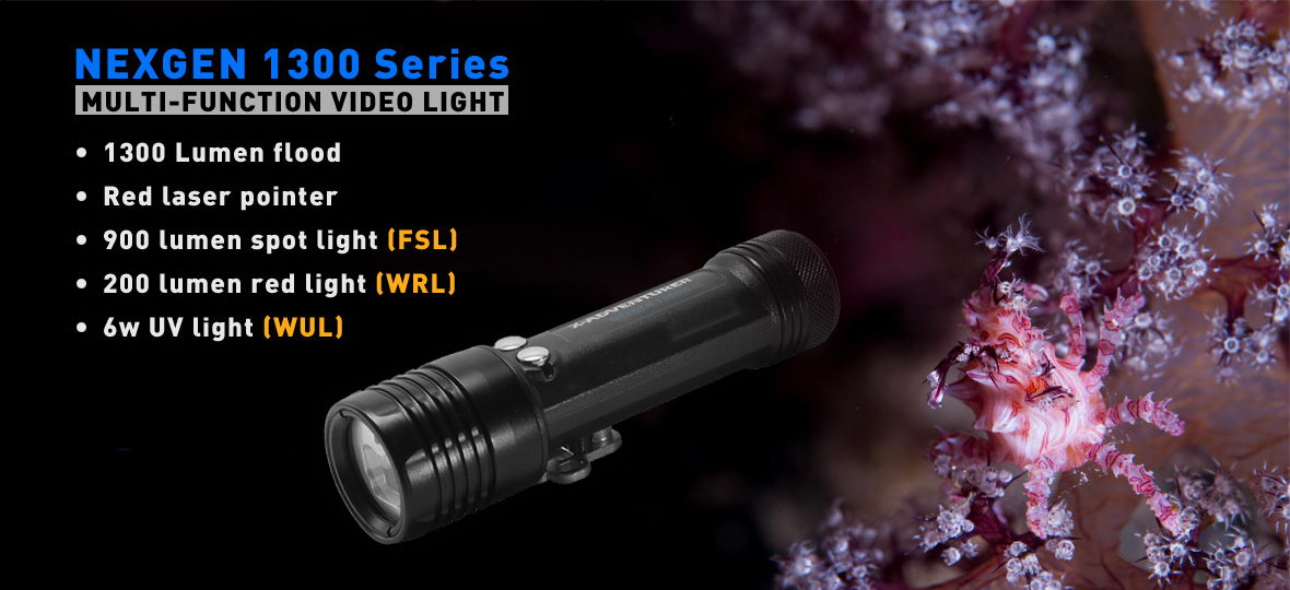 NEXGEN 1300 Series Multi-Function Video Light