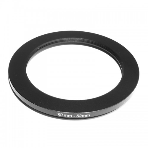 Aluminum 67mm-52mm Step-Down Ring